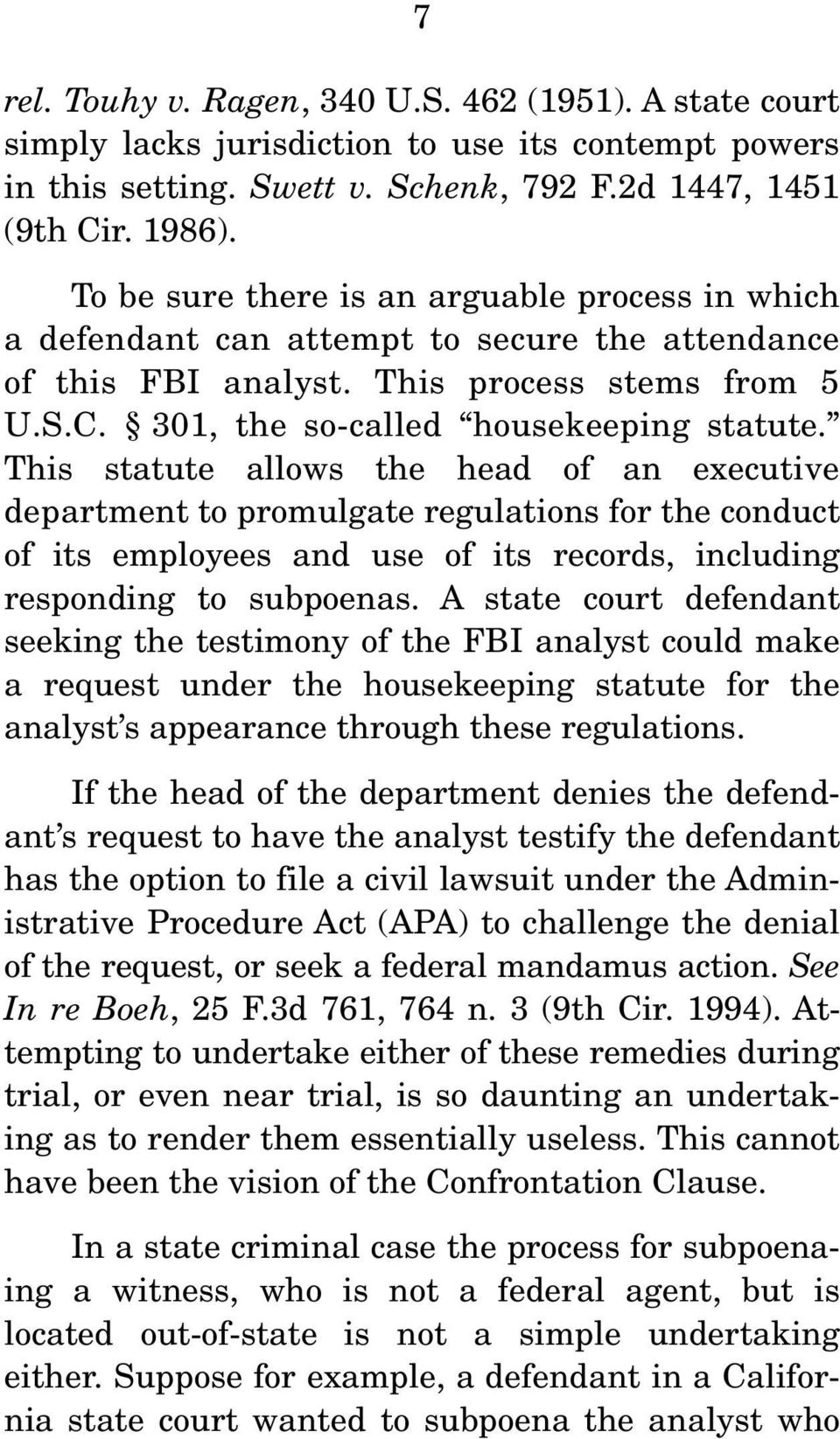 This statute allows the head of an executive department to promulgate regulations for the conduct of its employees and use of its records, including responding to subpoenas.