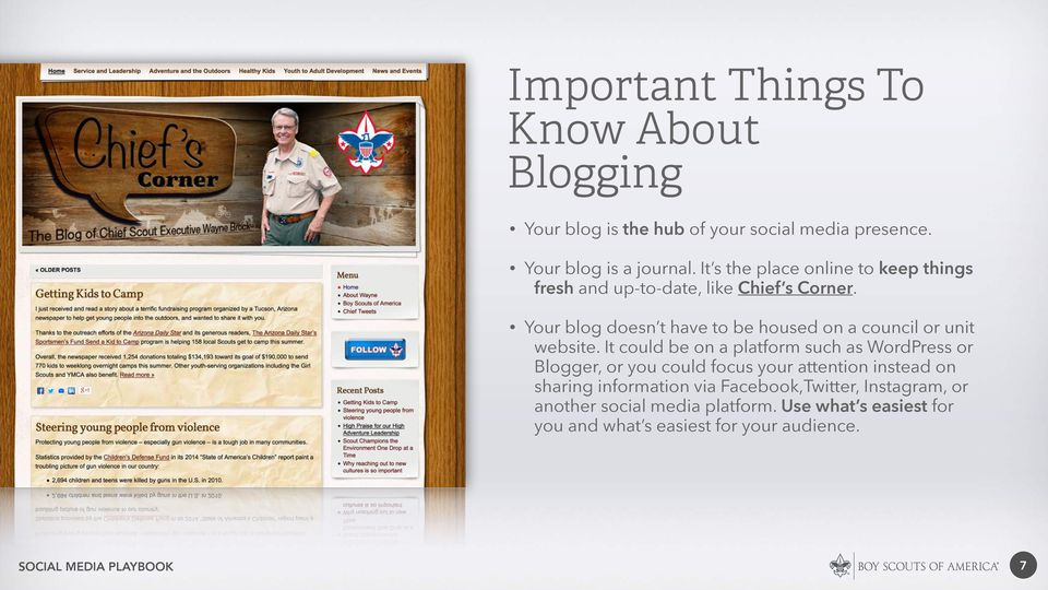 Your blog doesn t have to be housed on a council or unit website.