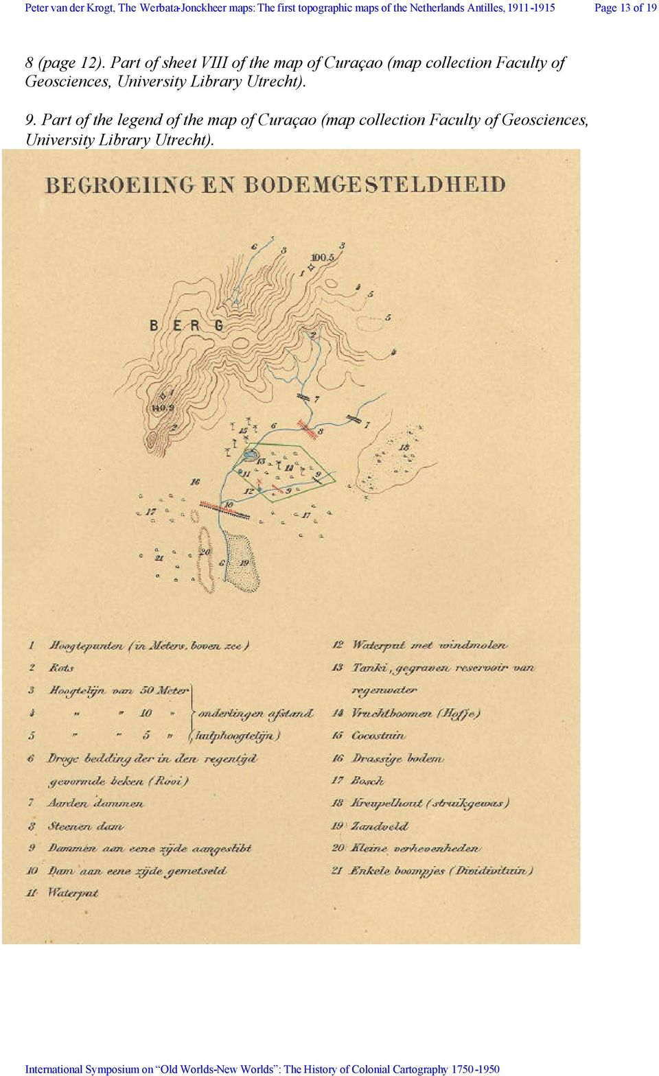 Part of sheet VIII of the map of Curaçao (map collection Faculty of Geosciences,