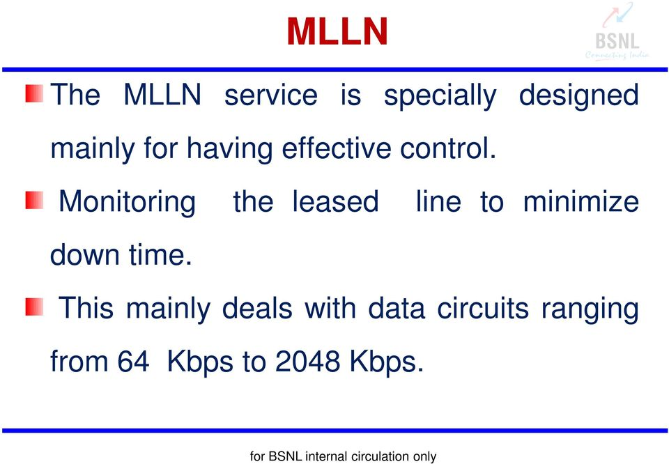 Monitoring the leased line to minimize down time.