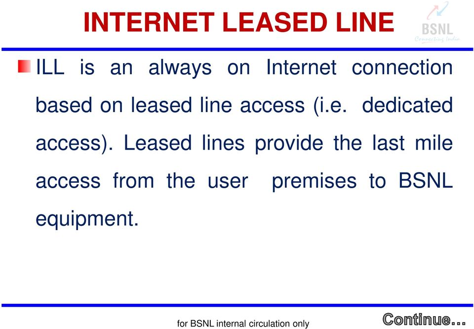 Leased lines provide the last mile access from