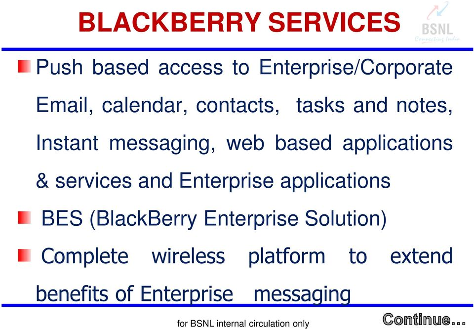applications & services and Enterprise applications BES (BlackBerry