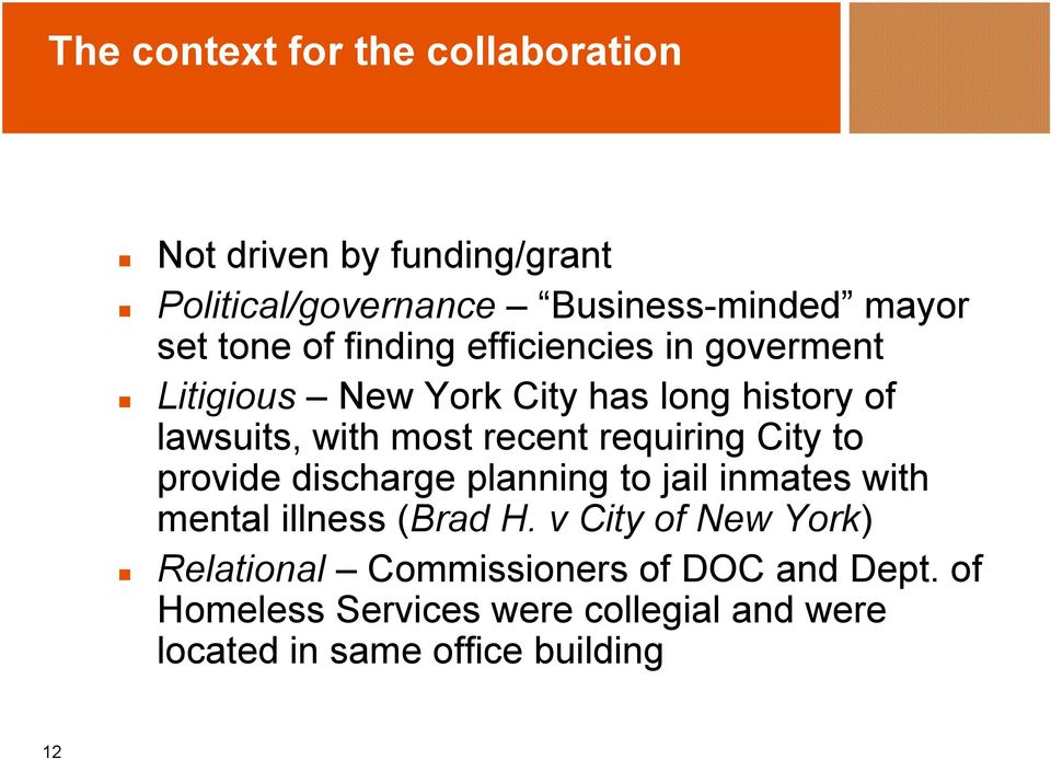requiring City to provide discharge planning to jail inmates with mental illness (Brad H.
