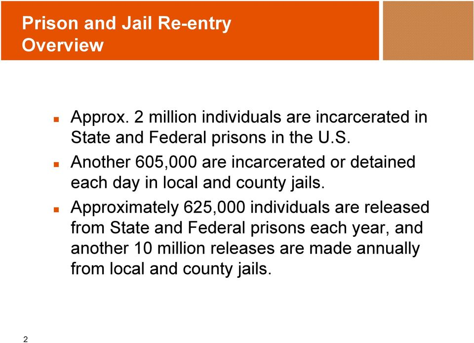 ate and Federal prisons in the U.S.