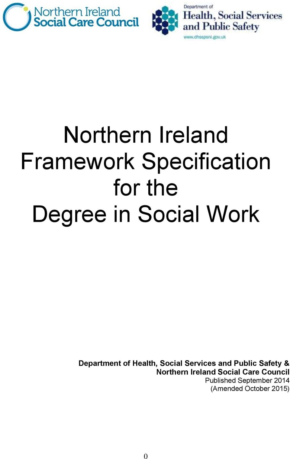 Services and Public Safety & Northern Ireland Social