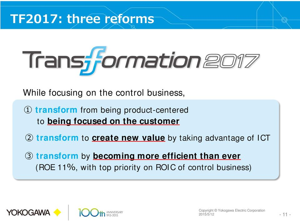 new value by taking advantage of ICT 3 transform by becoming more efficient