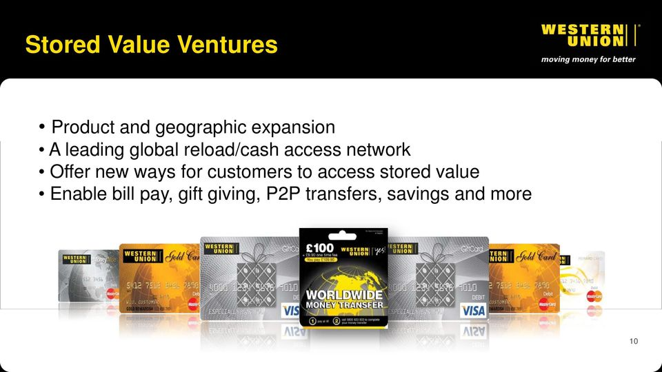 Offer new ways for customers to access stored value