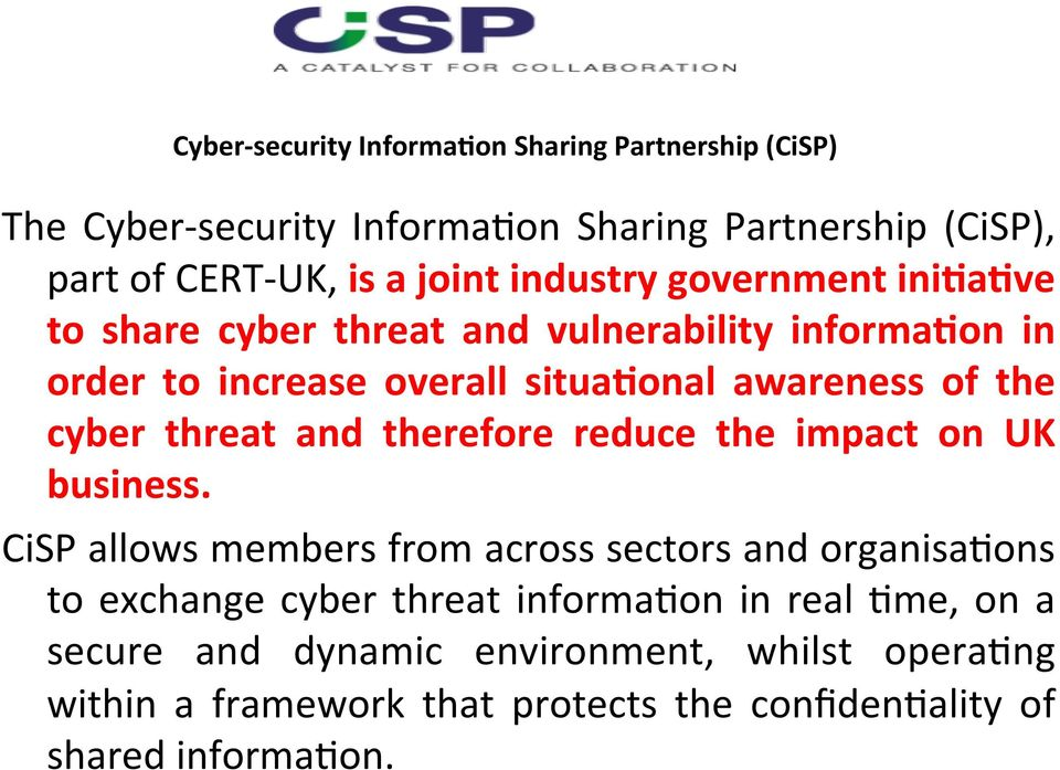 threat and therefore reduce the impact on UK business.