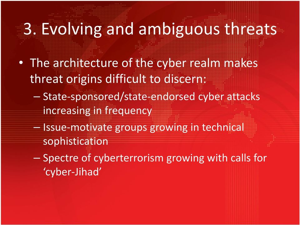 cyber attacks increasing in frequency Issue-motivate groups growing in