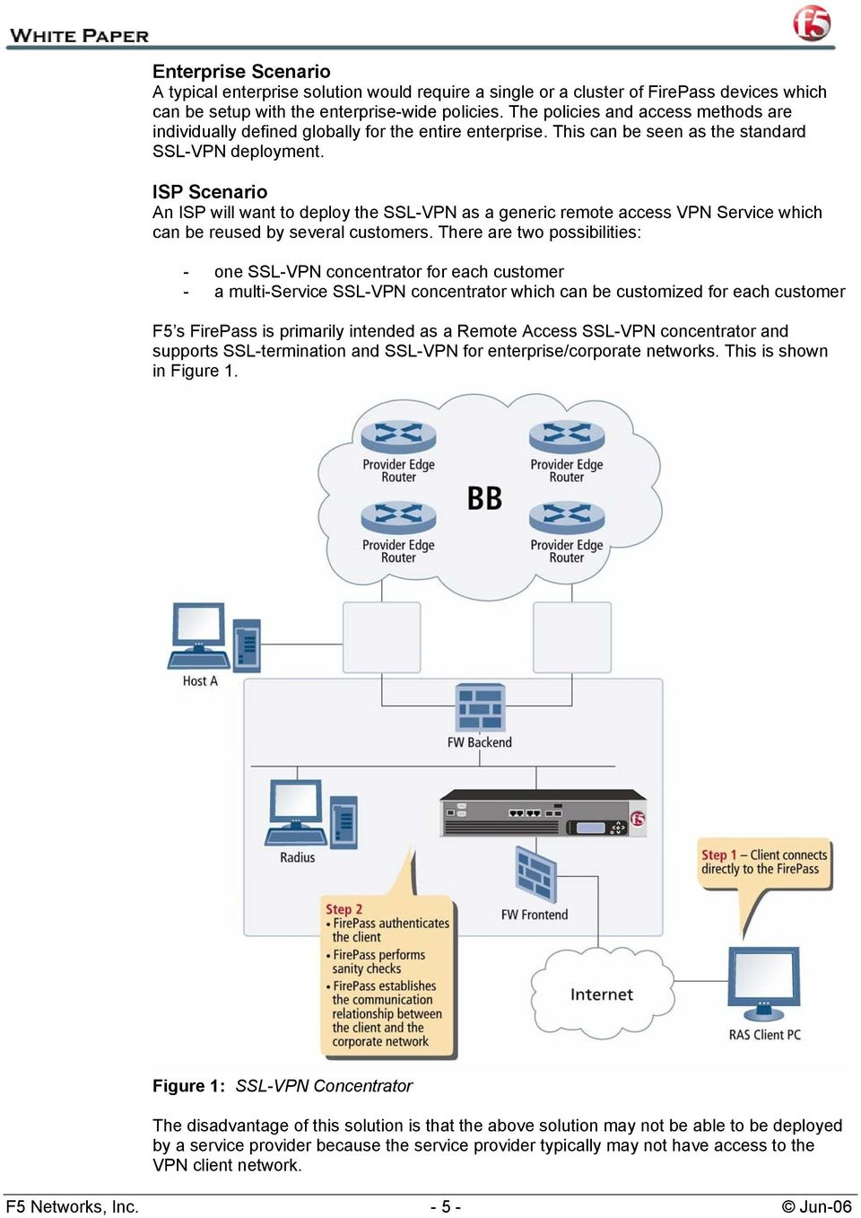 ISP Scenario An ISP will want to deploy the SSL-VPN as a generic remote access VPN Service which can be reused by several customers.