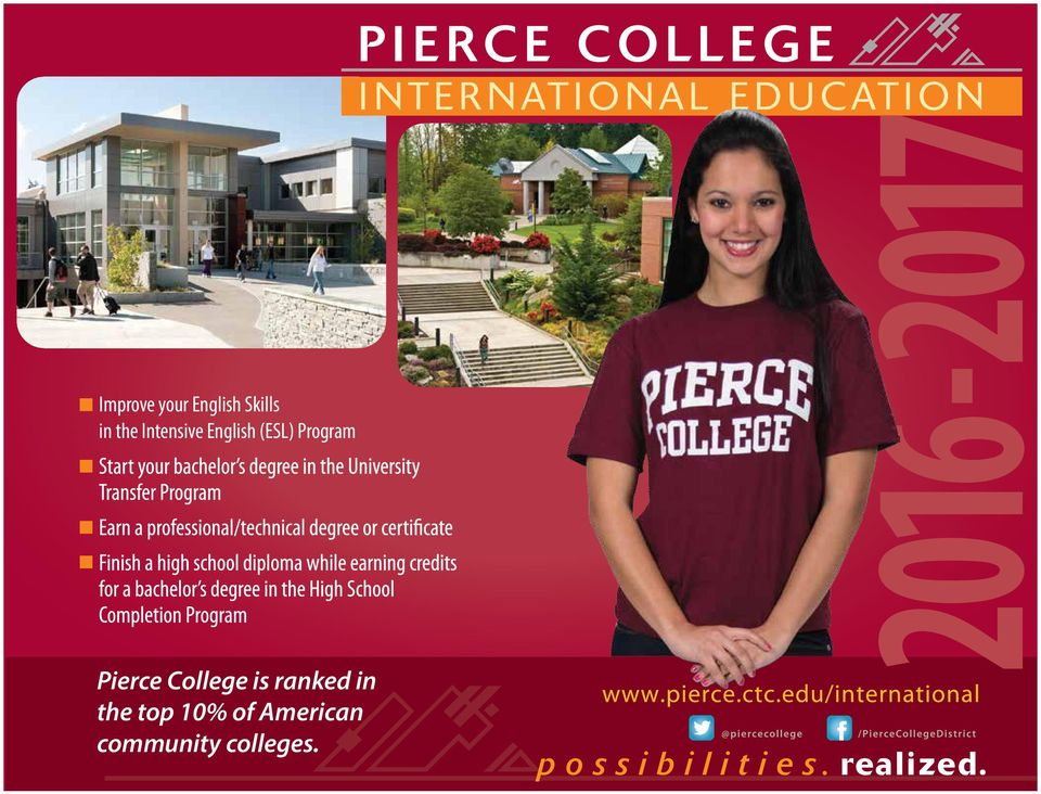 Pierce College is ranked in the top