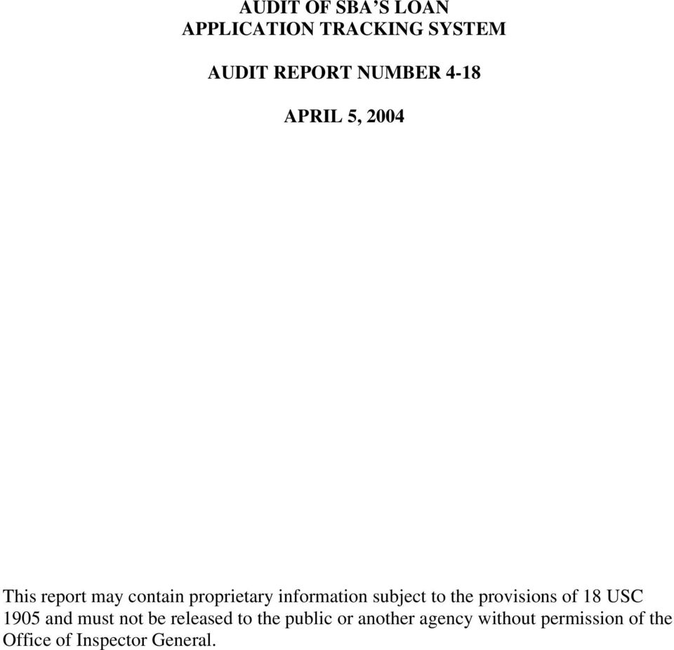 subject to the provisions of 18 USC 1905 and must not be released to