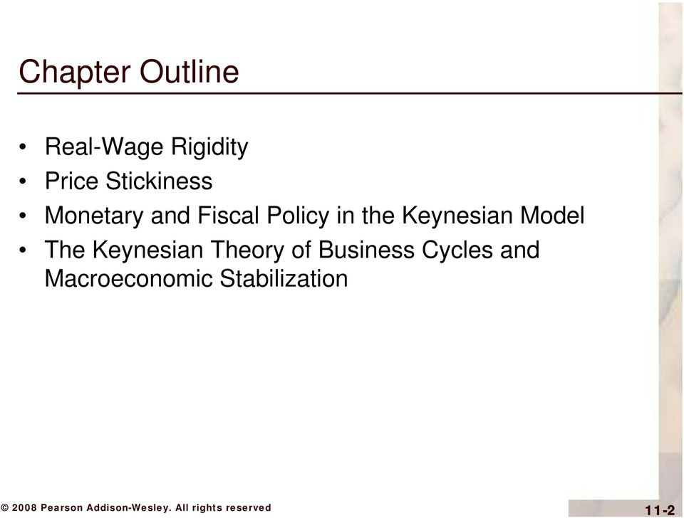 Keynesian Model The Keynesian Theory of