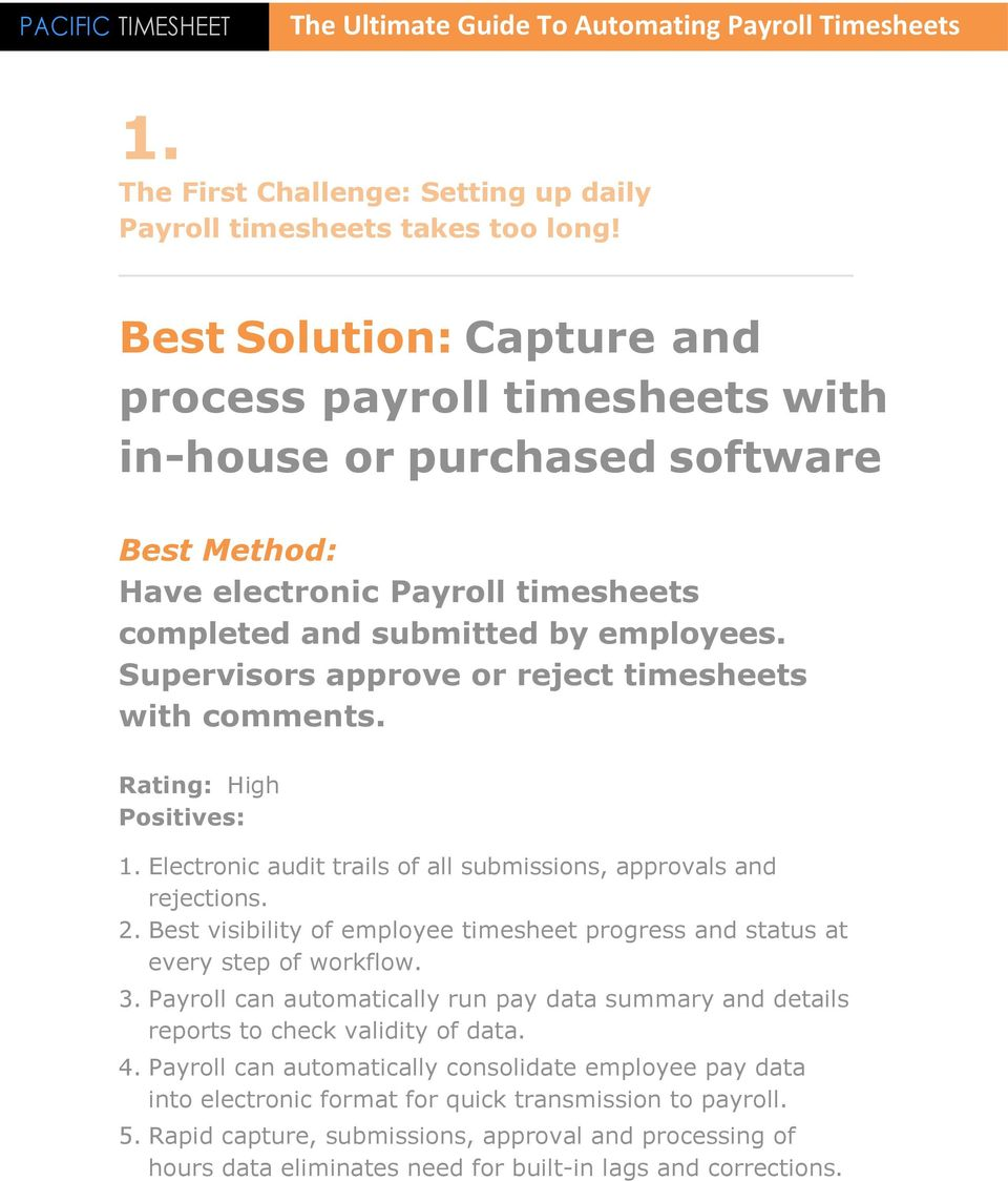 The Ultimate Guide to Automating Payroll Timesheets - PDF