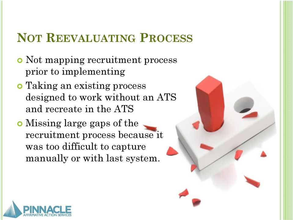 ATS and recreate in the ATS Missing large gaps of the recruitment
