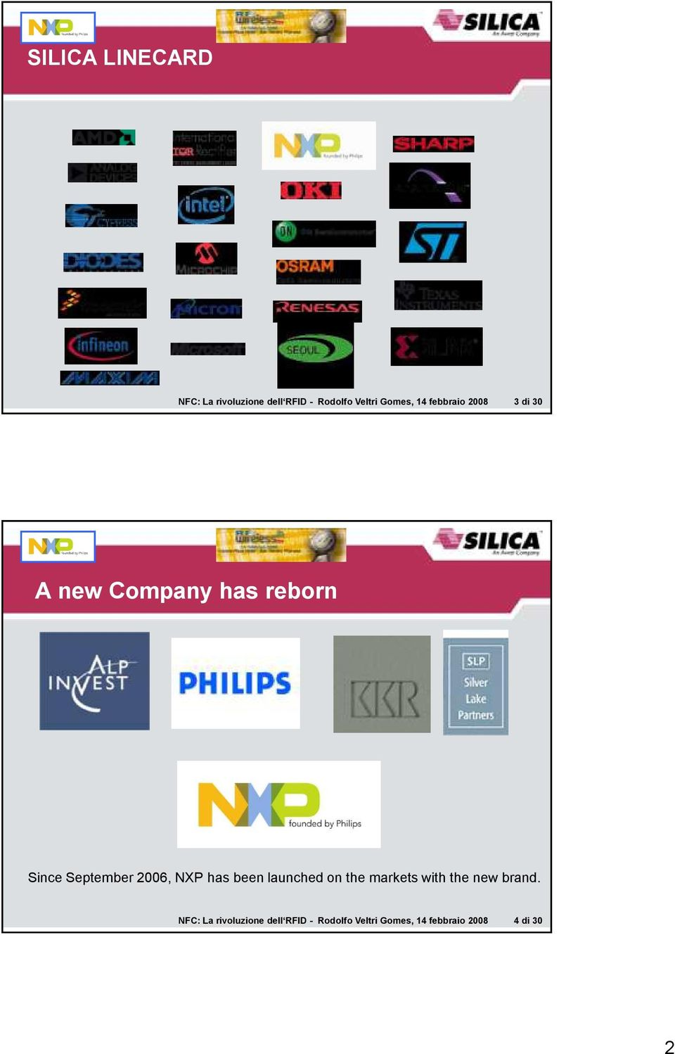 2006, NXP has been launched on the markets with the new brand.