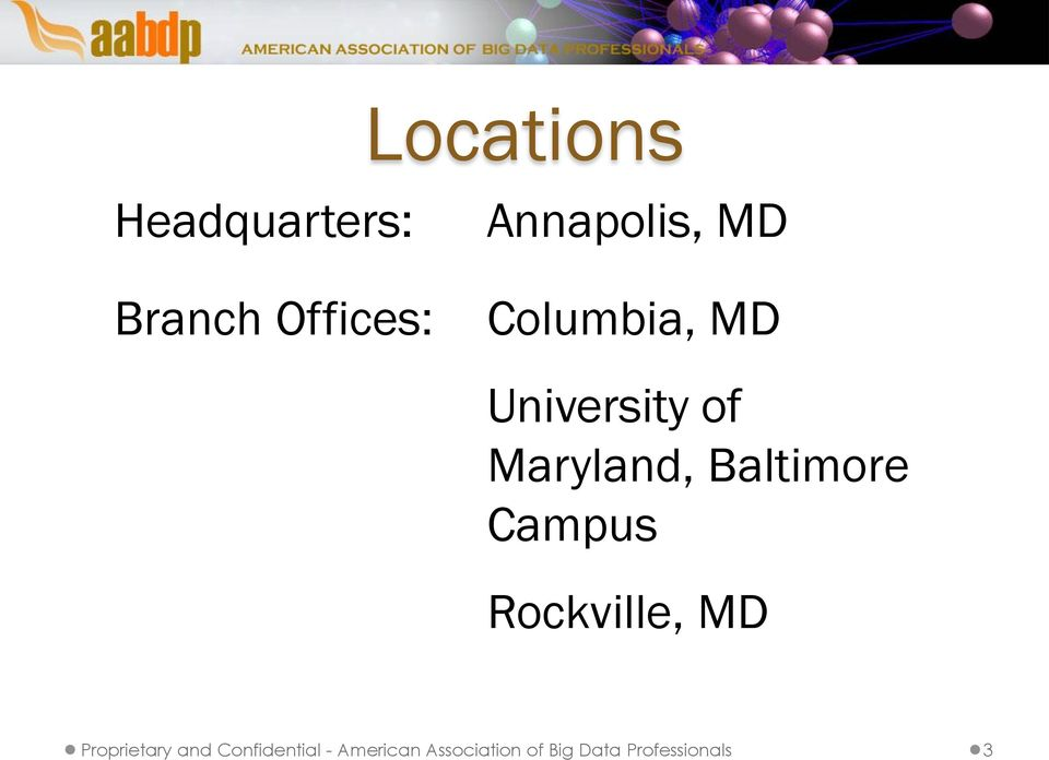 Campus Rockville, MD Proprietary and Confidential