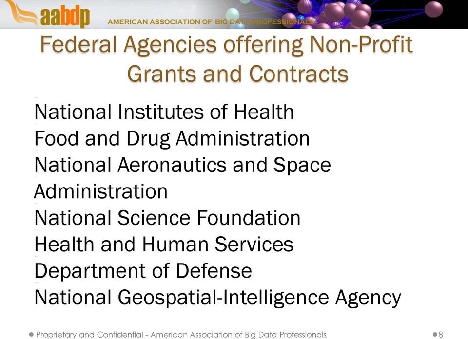 Science Foundation Health and Human Services Department of Defense National