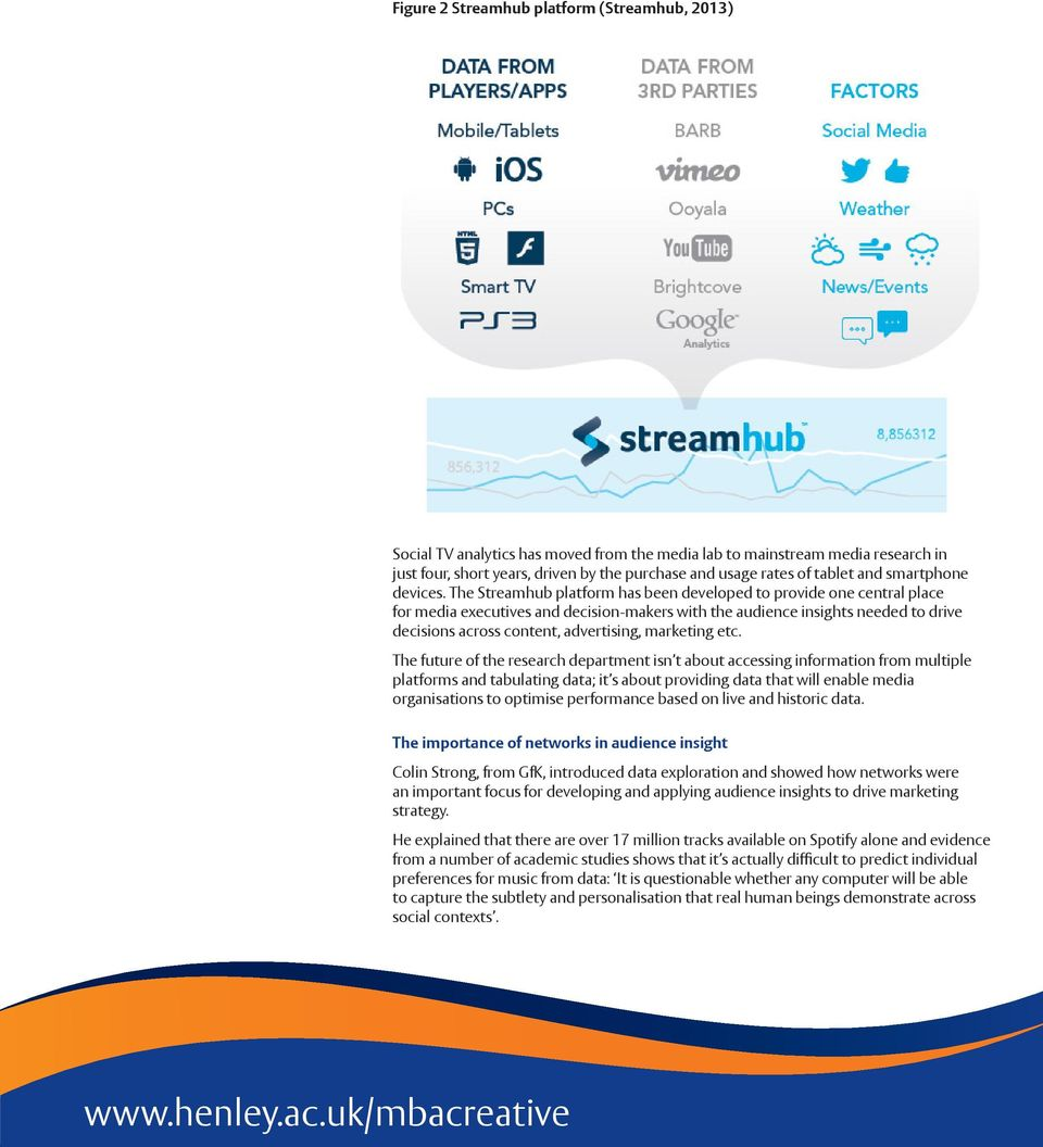 The Streamhub platform has been developed to provide one central place for media executives and decision-makers with the audience insights needed to drive decisions across content, advertising,