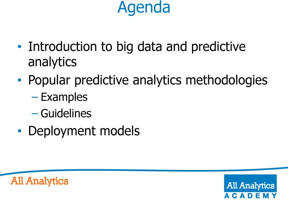 predictive analytics methodologies