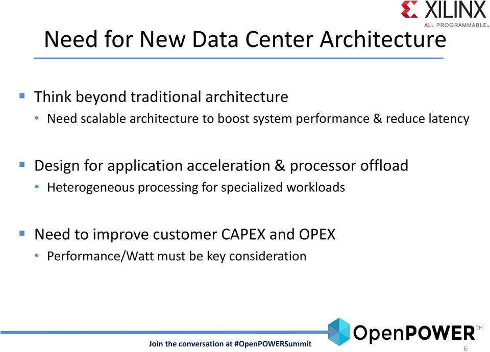application acceleration & processor offload Heterogeneous processing for