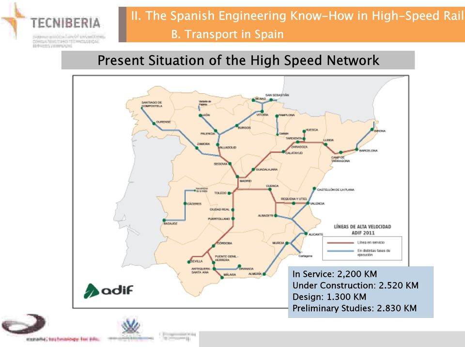 Transport in Spain Present Situation of the High Speed