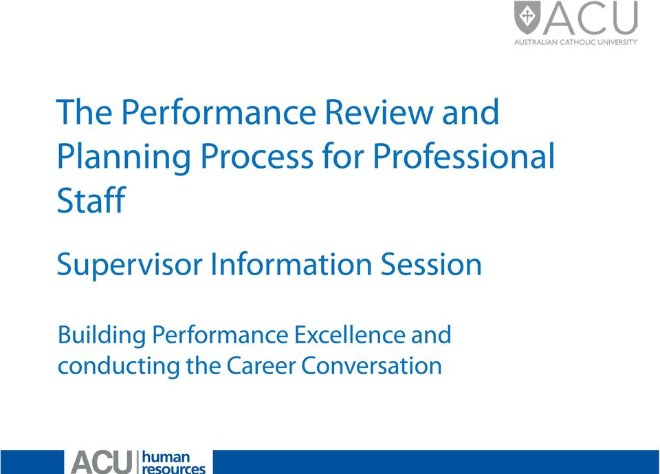 Information Session Building Performance