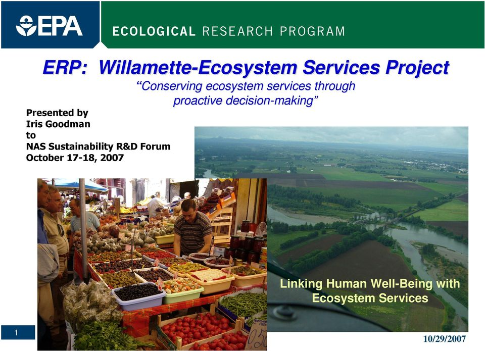 Conserving ecosystem services through proactive