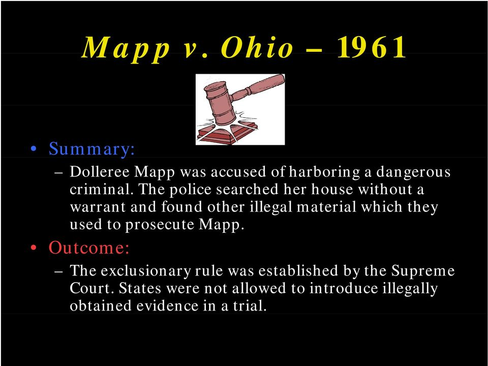 which they used to prosecute Mapp.