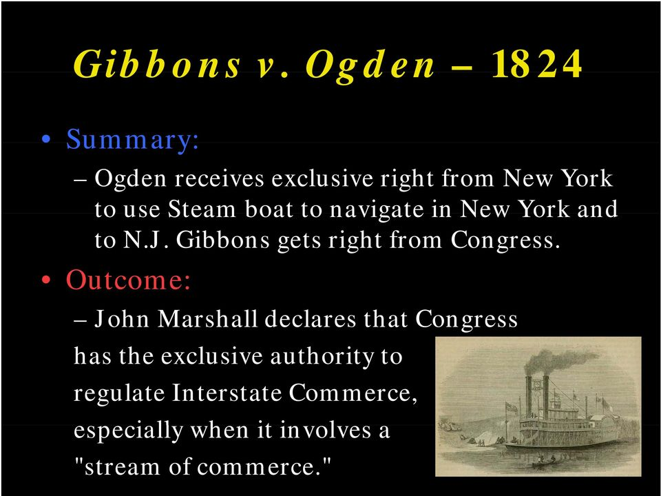 to navigate in New York and to N.J. Gibbons gets right from Congress.