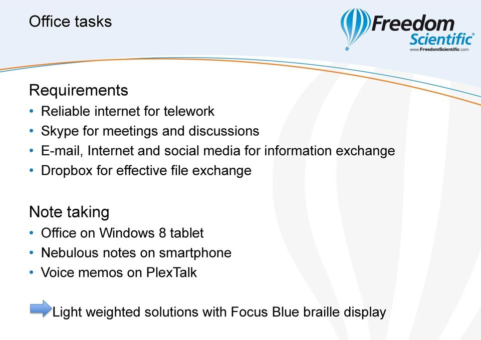 effective file exchange Note taking Office on Windows 8 tablet Nebulous notes on