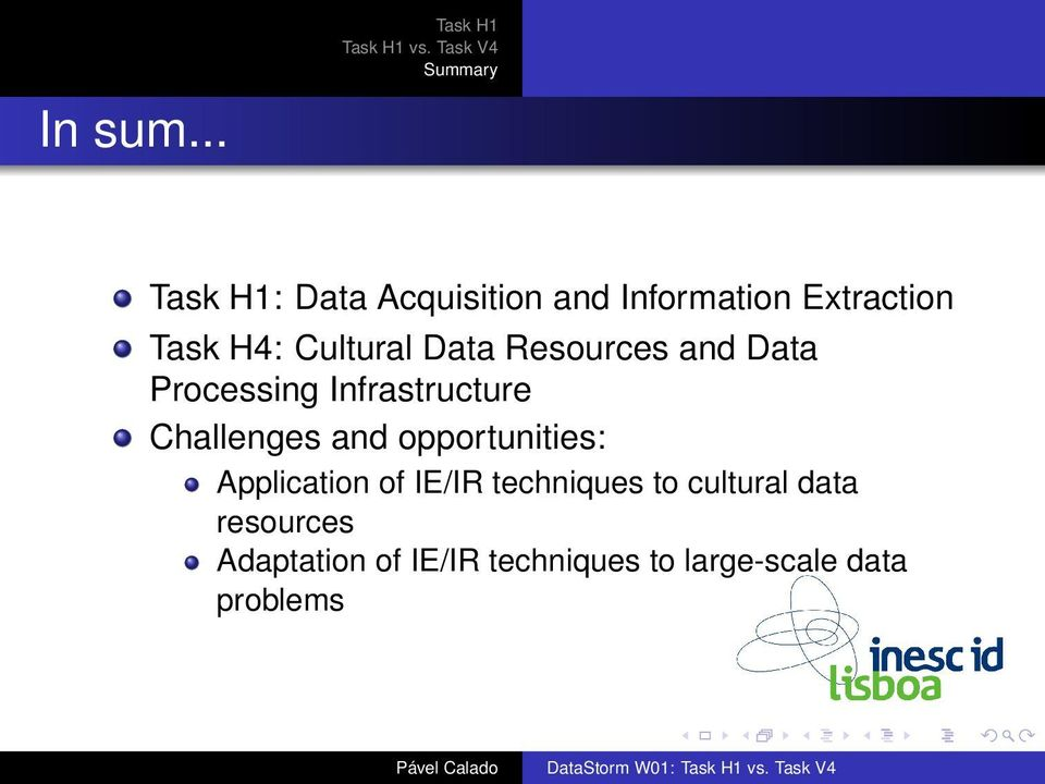 Data Resources and Data Processing Infrastructure Challenges and