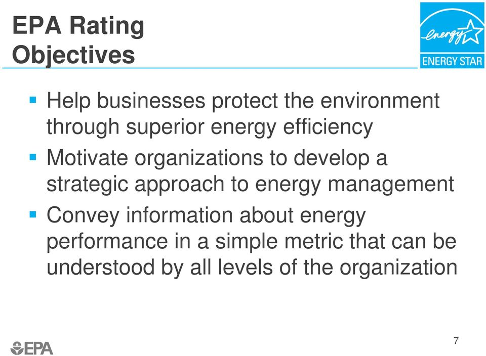approach to energy management Convey information about energy performance