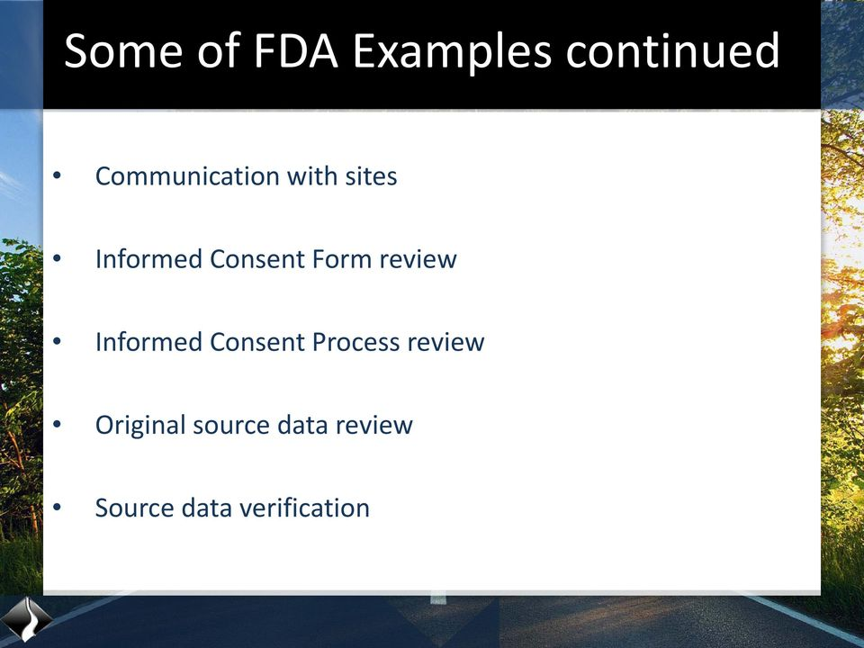 Form review Informed Consent Process