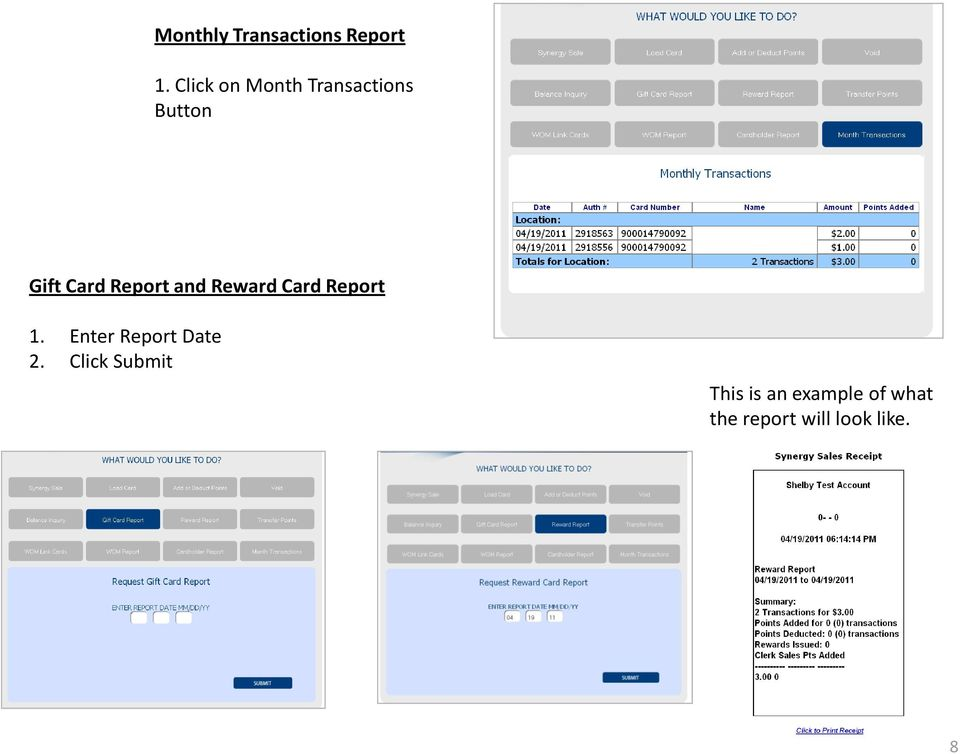 Report and Reward Card Report 1.