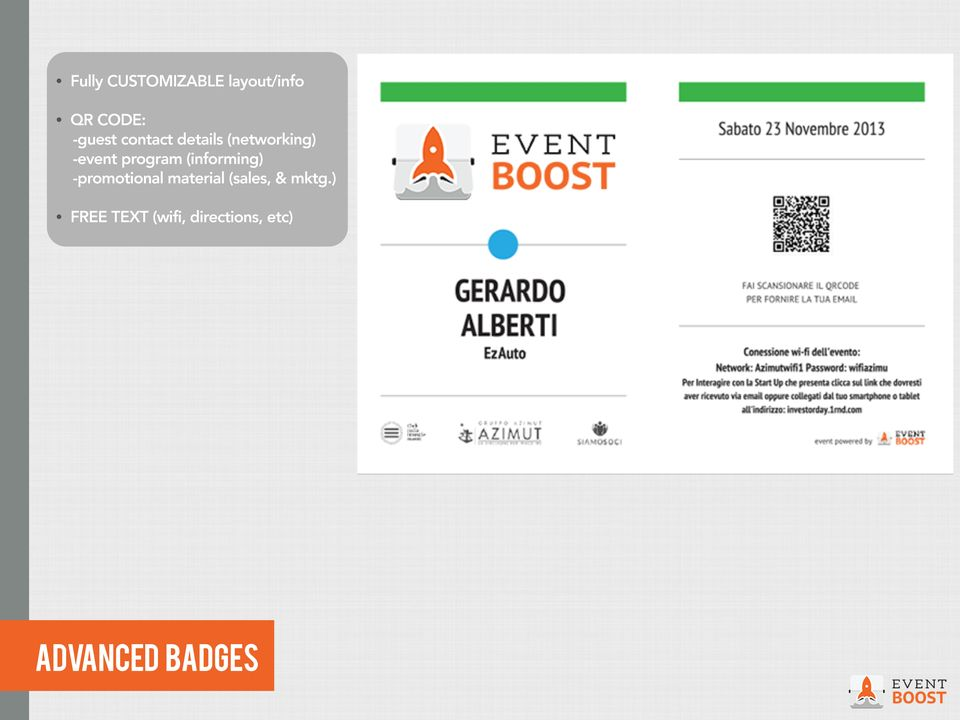 -event program (informing) -promotional material