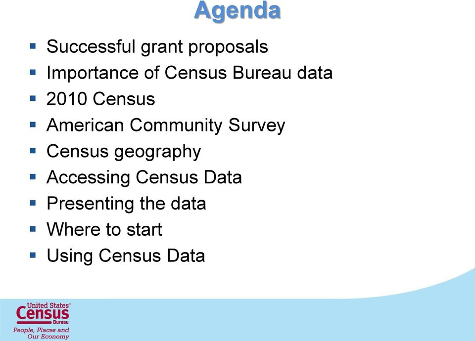 Community Survey Census geography Accessing