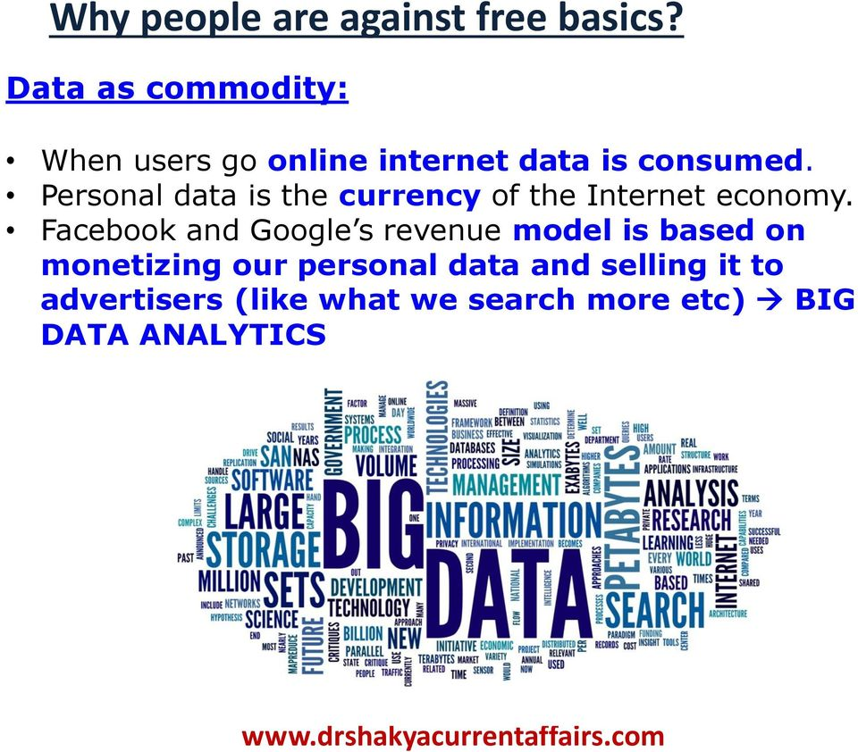 Personal data is the currency of the Internet economy.