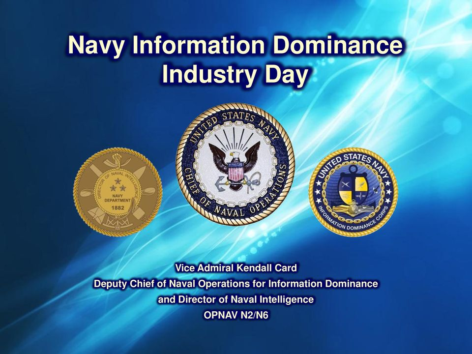 Naval Operations for Information Dominance
