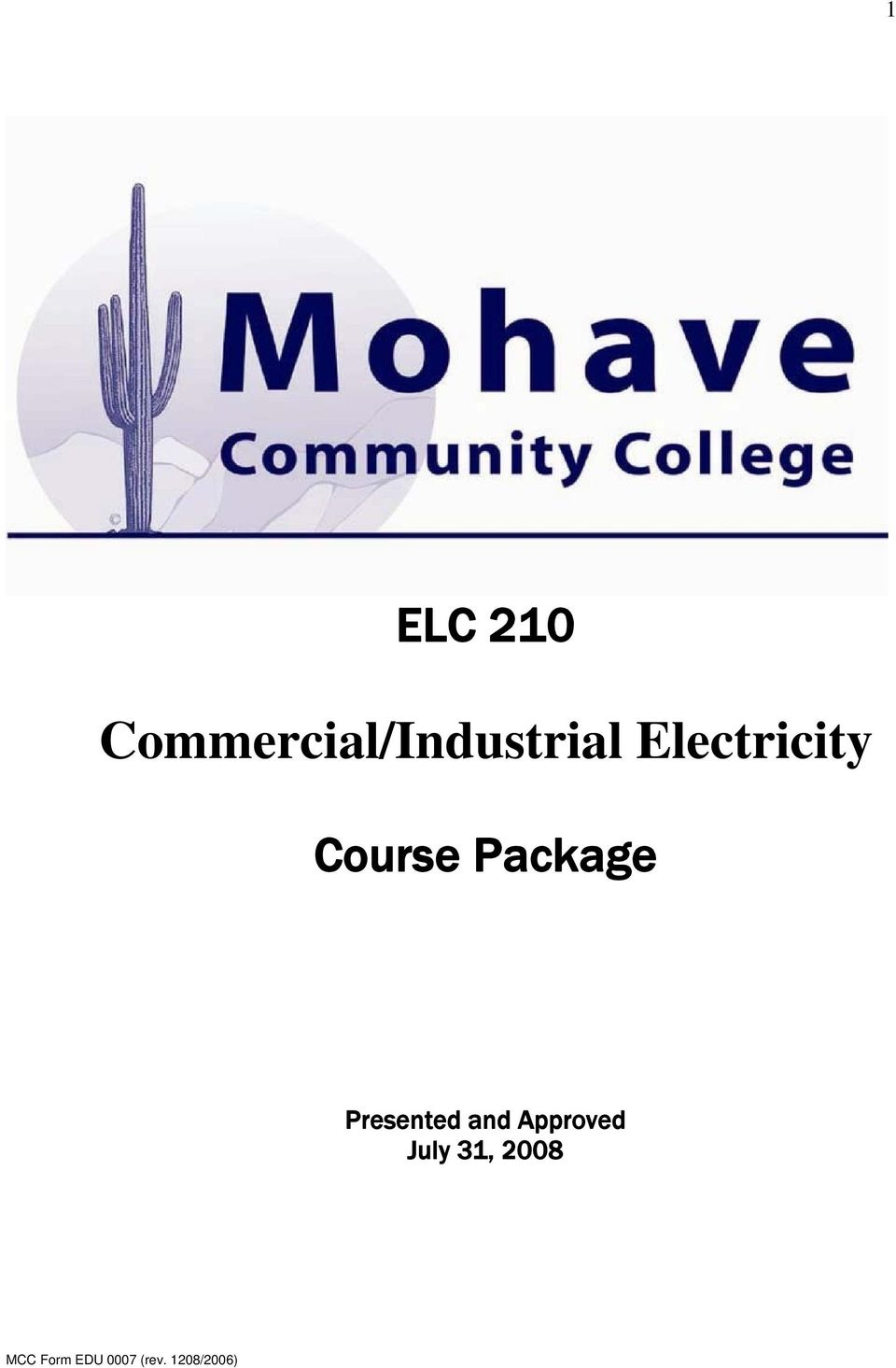 Electricity Course
