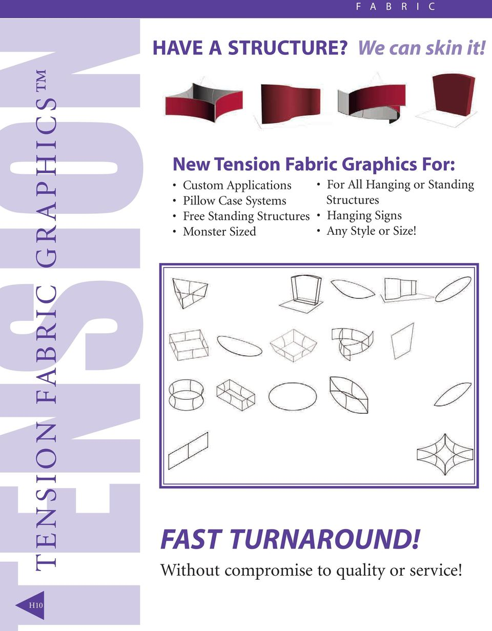 New Tension Fabric Graphics For: Custom Applications Pillow Case Systems Free