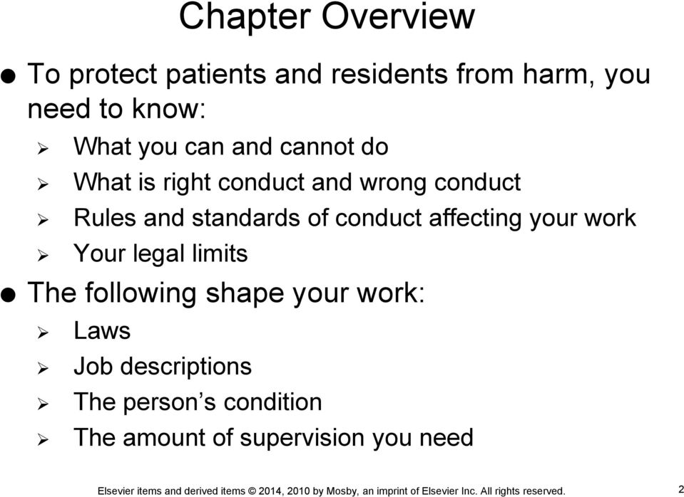 standards of conduct affecting your work Your legal limits The following shape