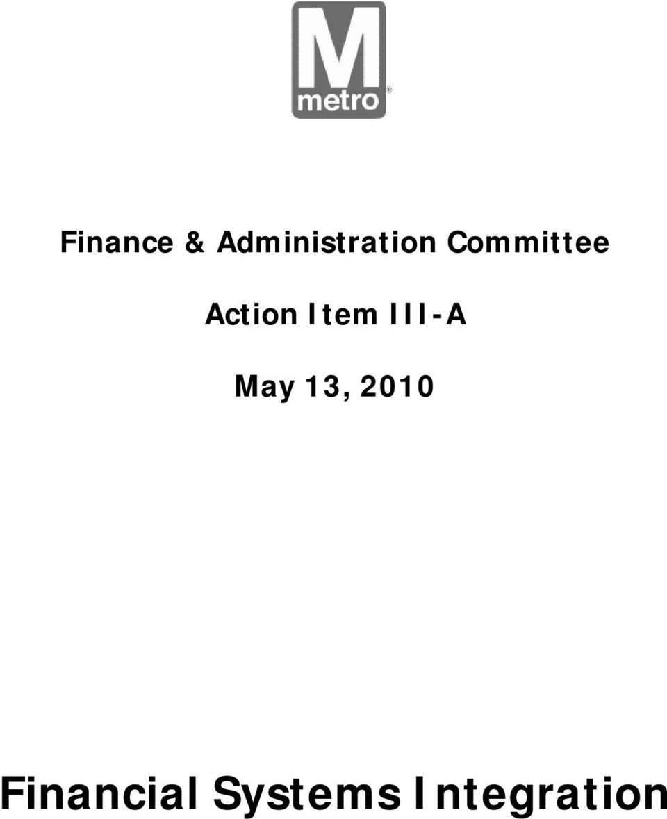 Committee Action Item