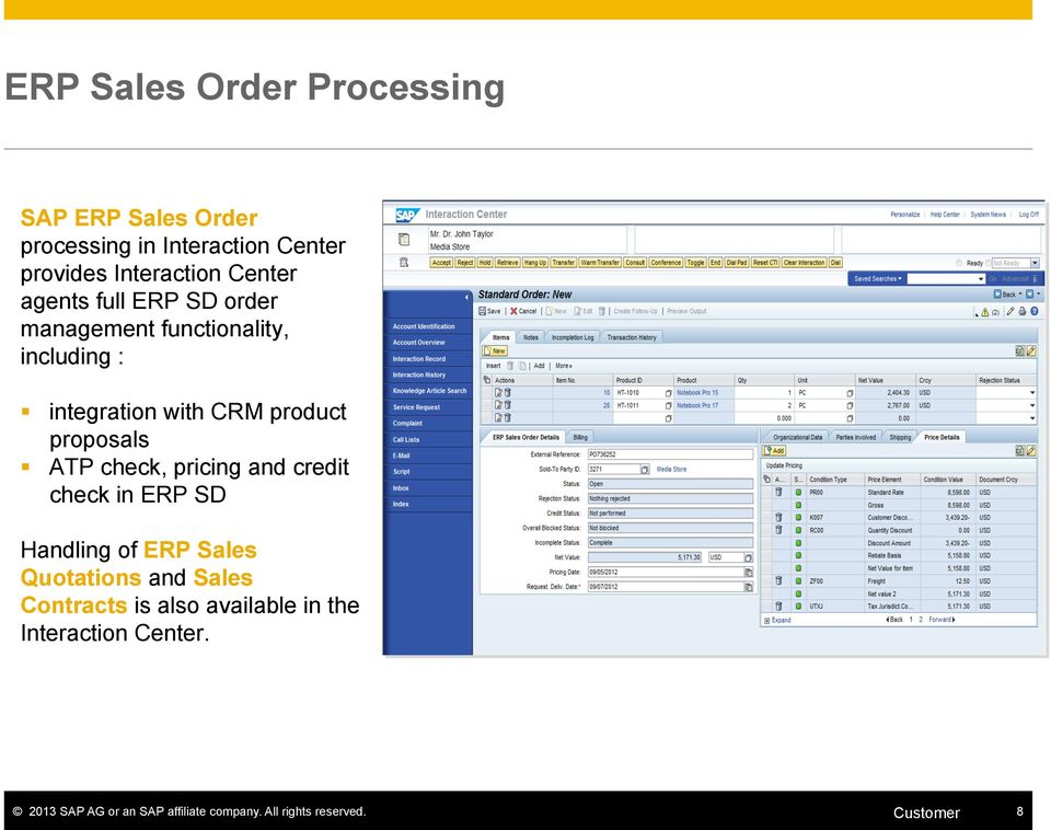 proposals ATP check, pricing and credit check in ERP SD Handling of ERP Sales Quotations and Sales