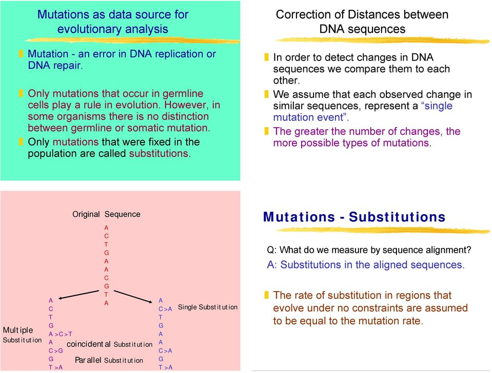orrection of Distances between DN sequences In order to detect changes in DN sequences we compare them to each other.