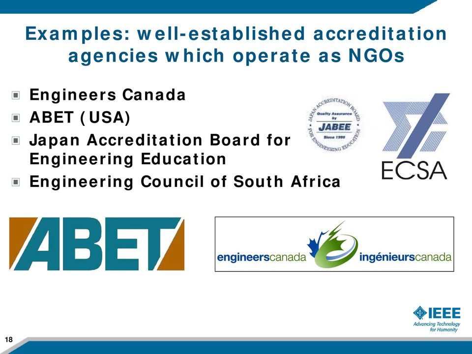 ABET (USA) Japan Accreditation Board for