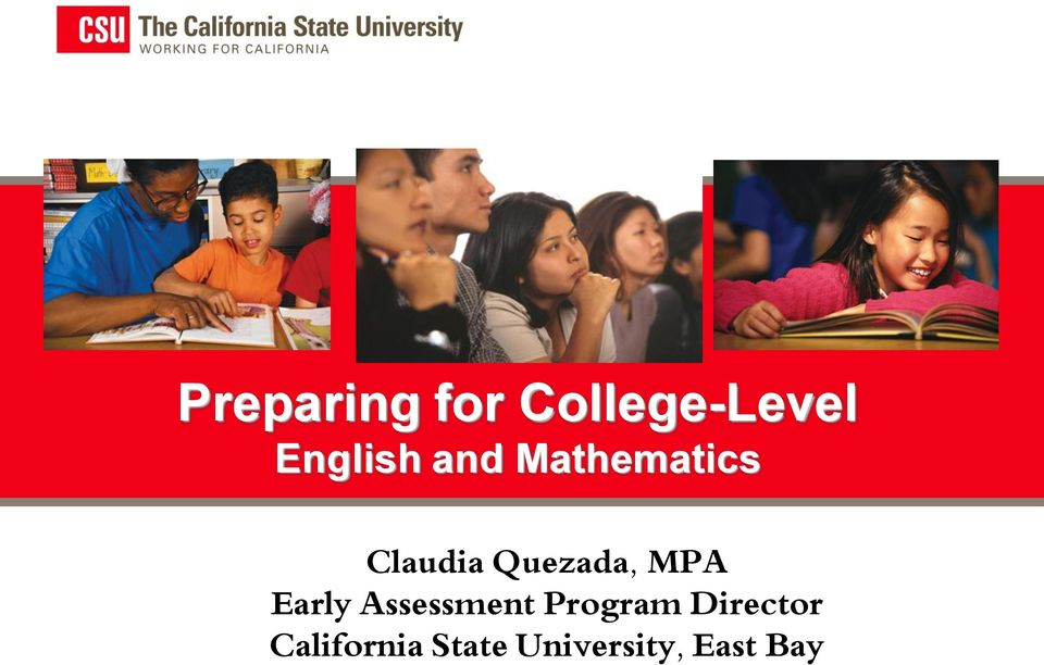 MPA Early Assessment Program