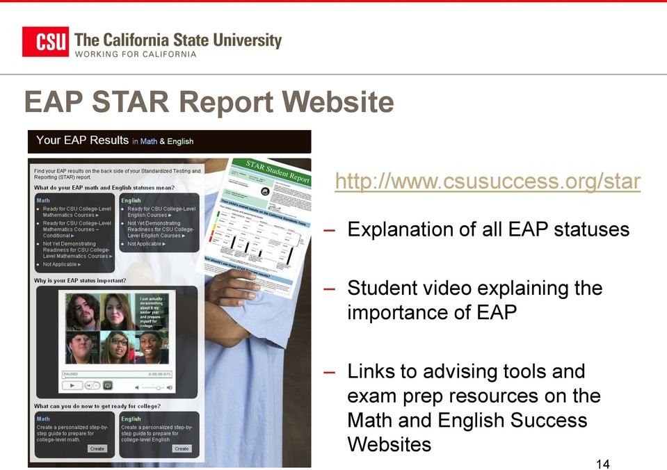 explaining the importance of EAP Links to advising tools