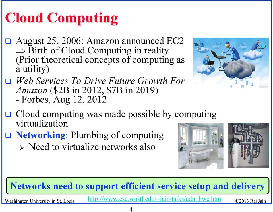 2019) - Forbes, Aug 12, 2012 Cloud computing was made possible by computing virtualization Networking: