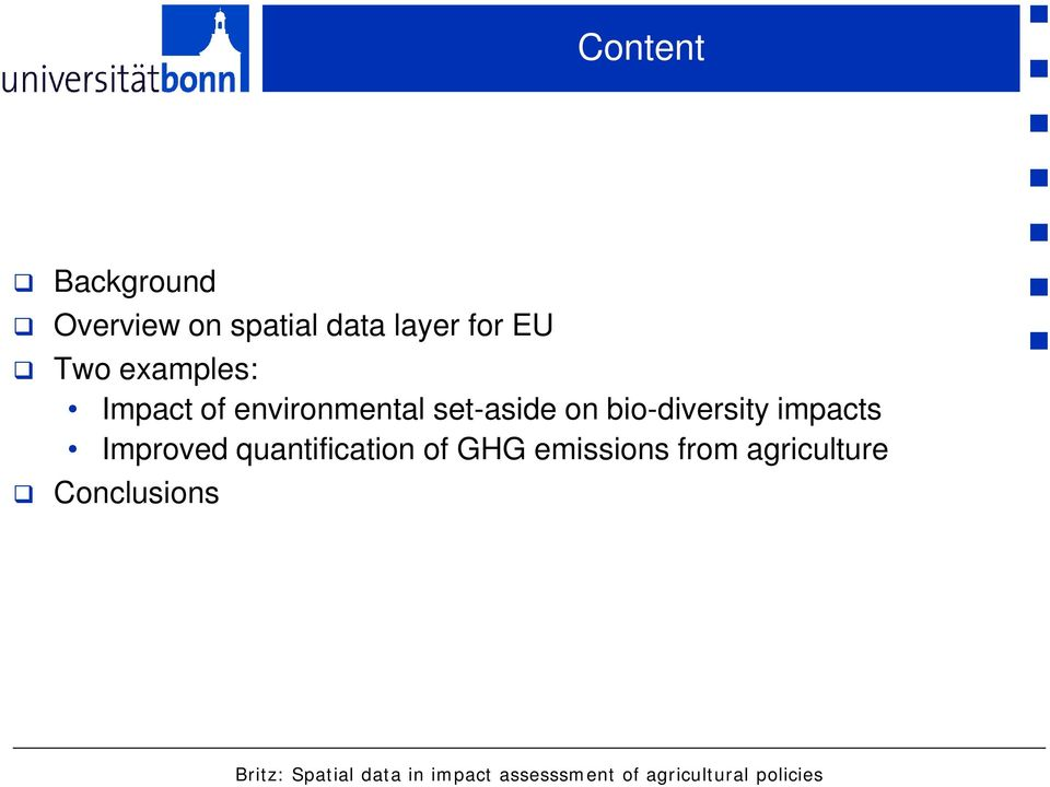 impacts Improved quantification of GHG emissions from agriculture